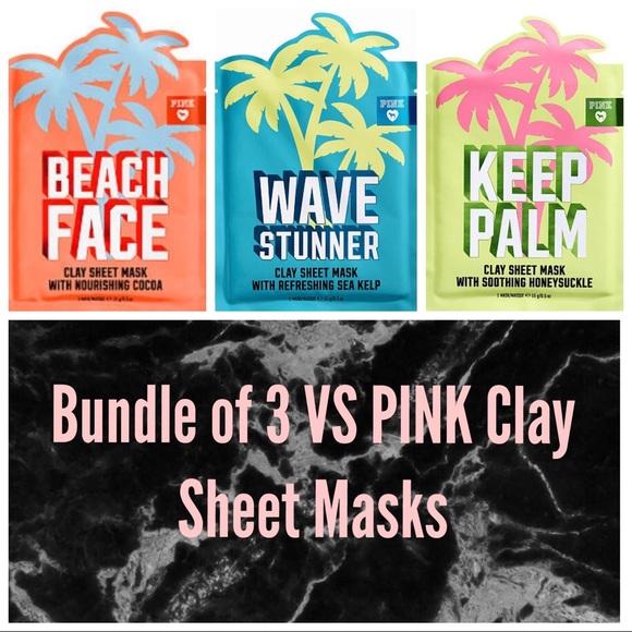 4adbd11fa6165 VS PINK 3 Clay Sheet Mask Bundle